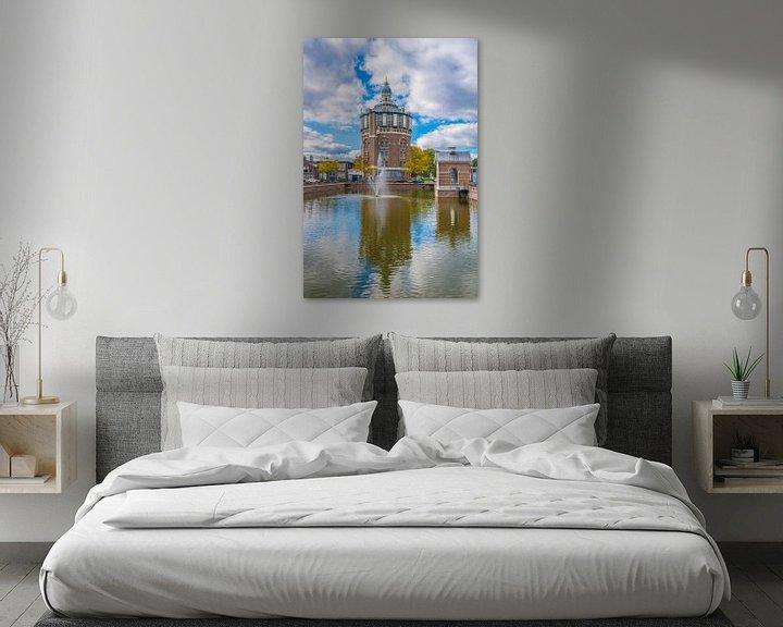 Beispiel: Wasserturm in Rotterdam von Fred Leeflang