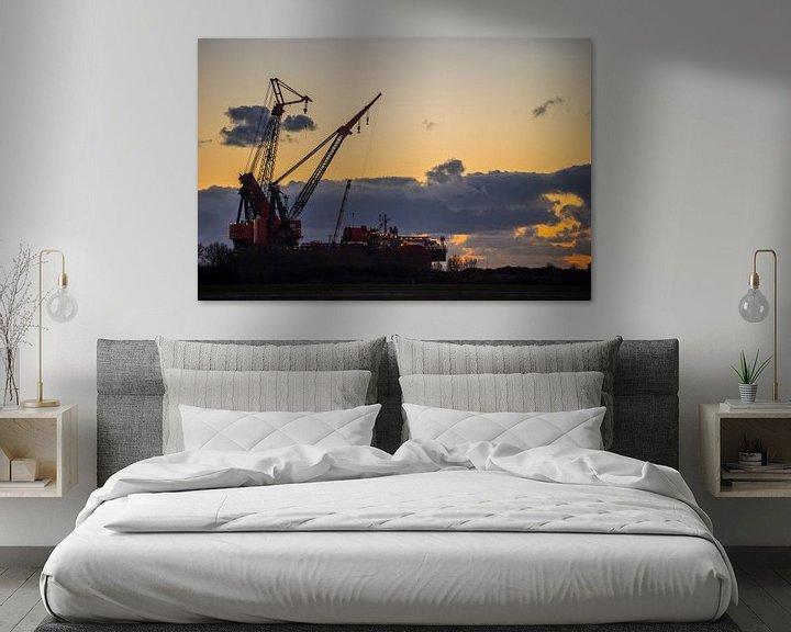 Beispiel: Hafen Rotterdam Wasserstraße von Fred Leeflang