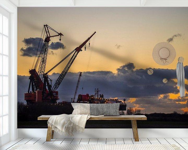 Beispiel fototapete: Hafen Rotterdam Wasserstraße von Fred Leeflang
