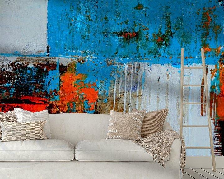 Beispiel fototapete: Strukturbild Rot-Blau von Claudia Neubauer