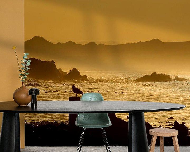 Sfeerimpressie behang: Zicht op Kleinbaai aan de Westkaap in Zuid-Afrika van Filip Staes