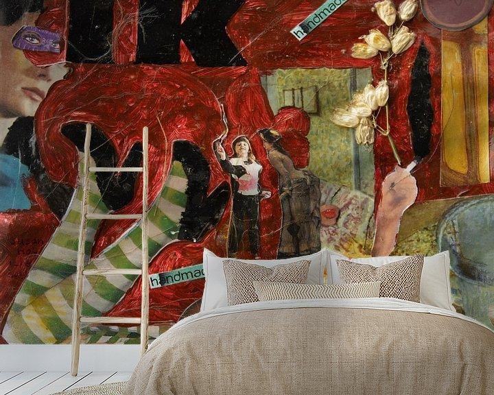Sfeerimpressie behang: IK(ea) Handmade van Susan Hol