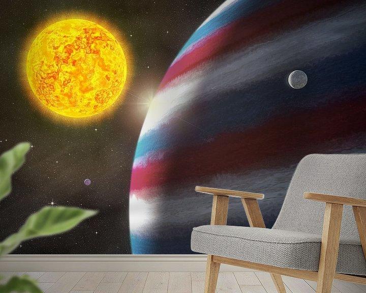 Sfeerimpressie behang: Nachtwacht en Sterrennacht van Frans Blok