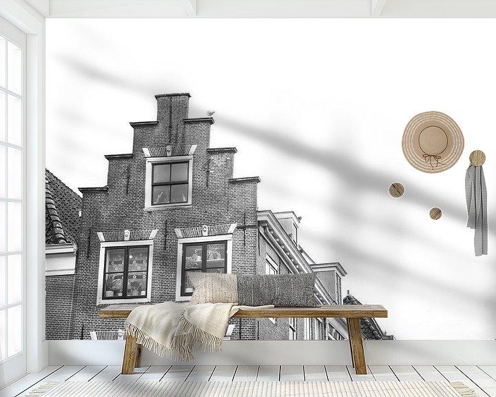 Sfeerimpressie behang: Meeuw op het dak van Erwin de Zwart