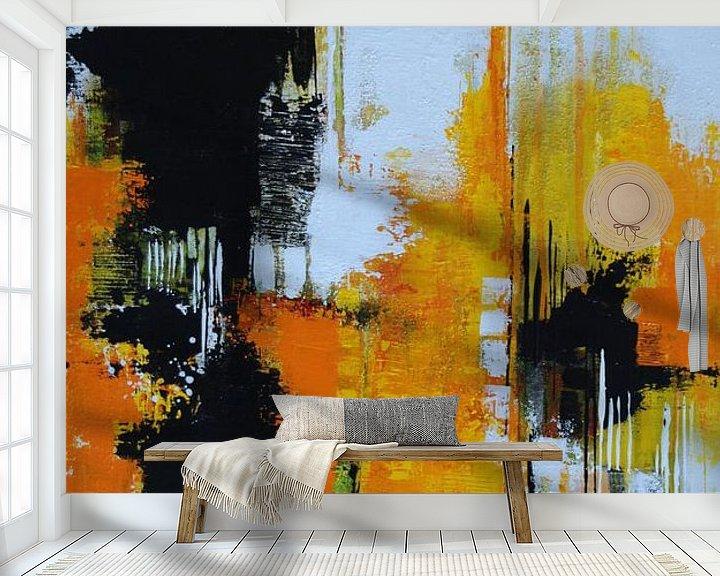 Beispiel fototapete: Abstrakt Nr.30 Sonnengelb von Claudia Neubauer