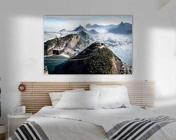 kabelbaan naar de suikerberg in Rio de Janeiro van Eric van Nieuwland