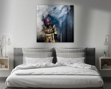 Feuerwehrmann, Feuerwehrfrau, Farbe von Desiree Tibosch