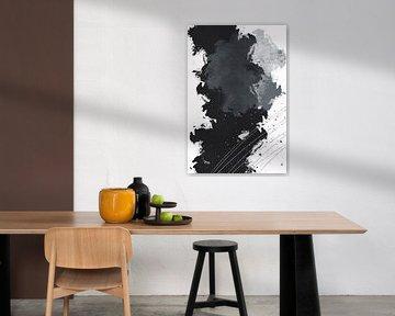 Abstrakte Malerei Nr. 4 | silber von Melanie Viola