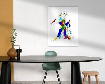 Abstracte kunst JM020op van Johannes Murat