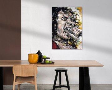 Robert Plant (Led Zeppelin) Porträt von Jos Hoppenbrouwers