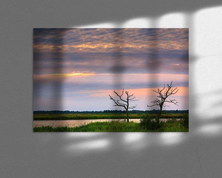 Sfeerimpressie: Zonsondergang in de Onlanden van Henk Meijer Photography
