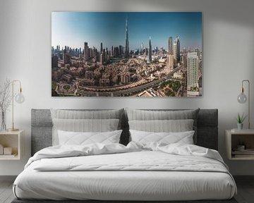 Dubai Skyline Downtown Panorama von Jean Claude Castor