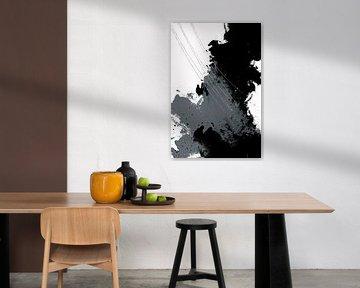 Abstrakte Malerei Nr. 5 | silber von Melanie Viola