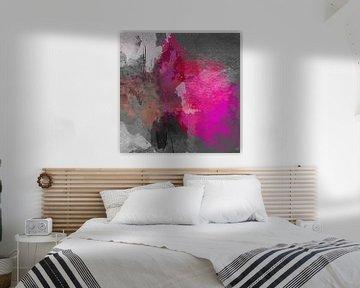 Gray pink abstract