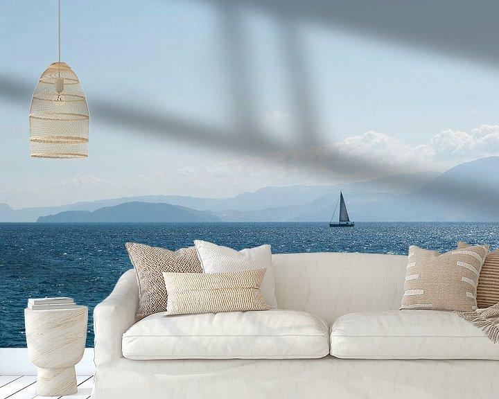 Sfeerimpressie behang: uitzicht over de zee van Anita Visschers