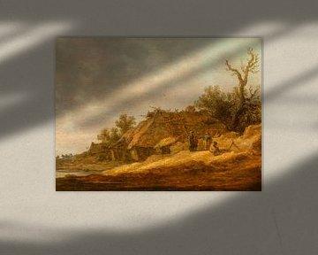 Menschen auf einem verfallenen Bauernhof, Jan van Goyen