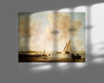 Flusslandschaft mit Fischern, Jan van Goyen, Jan van Eyck