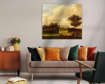Landschaft mit Brücke, bekannt als 'Die kleine Brücke', Jan van Goyen