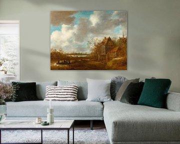Eine Flusslandschaft mit Figuren, Jan van Goyen