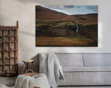 Waterval bij de Fairy Glen, Isle of Skye van Paul van Putten