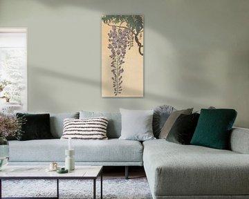 Blühende Glyzinie von Ohara Koson