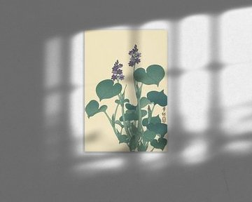 Blühende Hosta von Ohara Koson