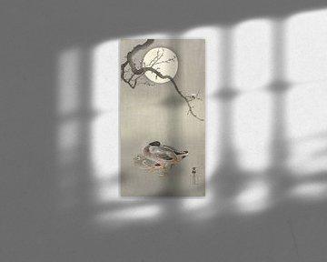 Enten bei Vollmond von Ohara Koson