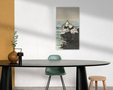 Große Kanuläufer von Ohara Koson