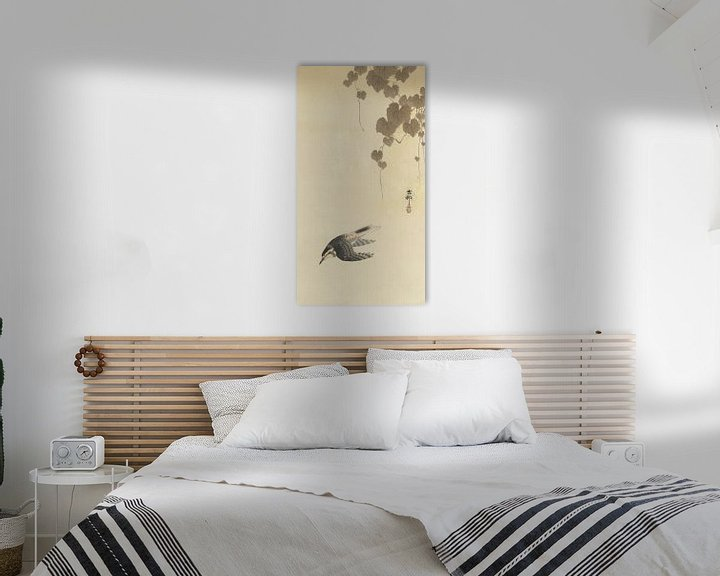 Beispiel: Vogel im Abwärtsflug von Ohara Koson