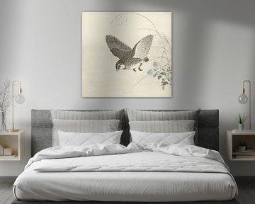 Vliegende kwartel van Ohara Koson