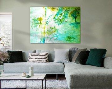 Bomen abstract van M.A. Ziehr