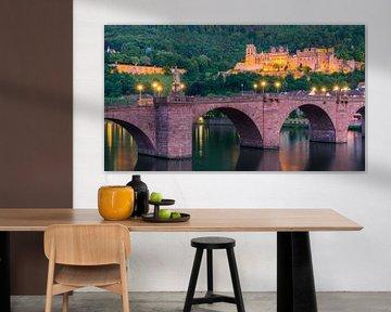 Schloss Heidelberg, Duitsland van Henk Meijer Photography