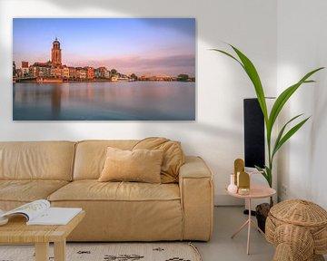 Deventer aan de IJssel in avondlicht van Henk Meijer Photography