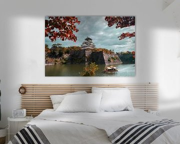 Schloss Osaka im Herbst von Tom Rijpert