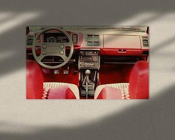 GTI interieur 70s van Jaap Ros
