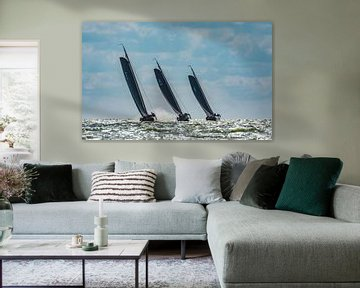 Skûtsjes op het IJsselmeer_01 van Harry Eggens