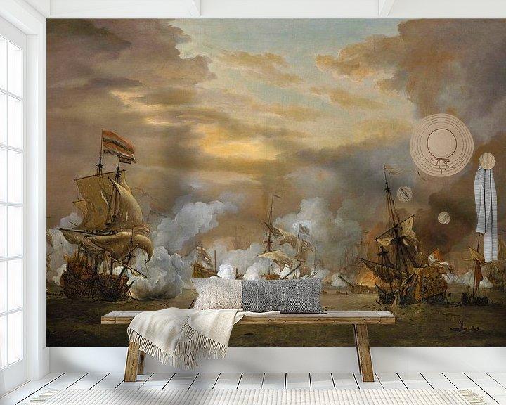 Impression: La bataille du Texel, Willem van de Velde le Jeune