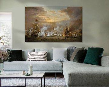 Die Schlacht von Texel, Willem van de Velde der Jüngere
