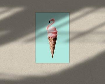 Flamingo-ijs van Jonas Loose