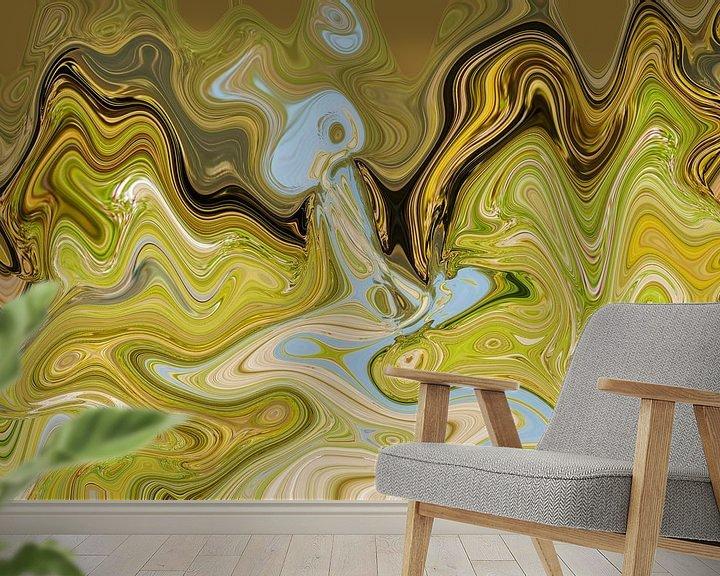 Sfeerimpressie behang: DE BRON van Anneke Wapstra