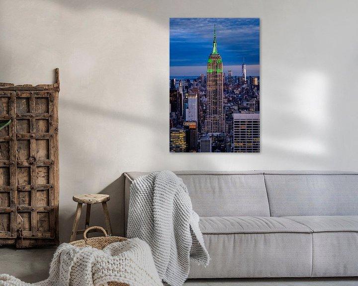 Sfeerimpressie: Zonsondergang over Empire State Building van Kimberly Lans