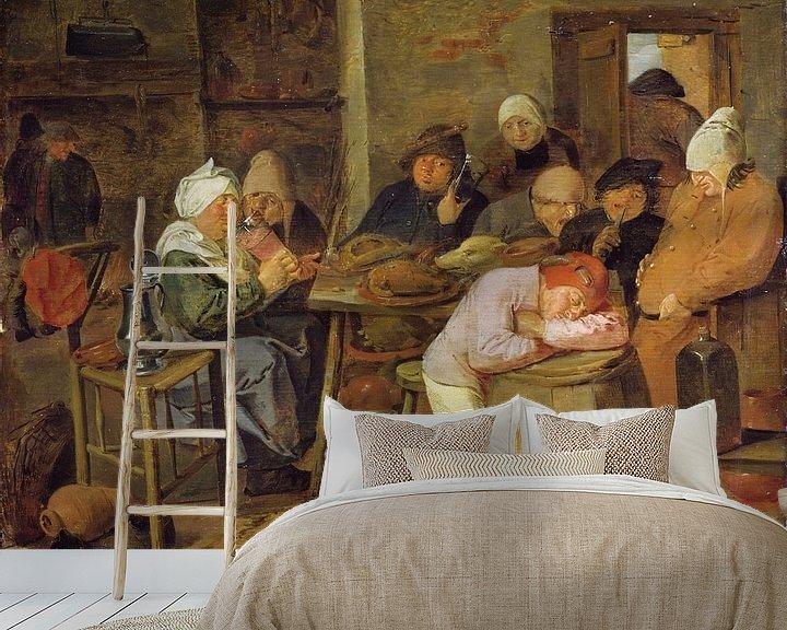 Beispiel fototapete: Bauern in einem Gasthaus, Adriaen Brouwer