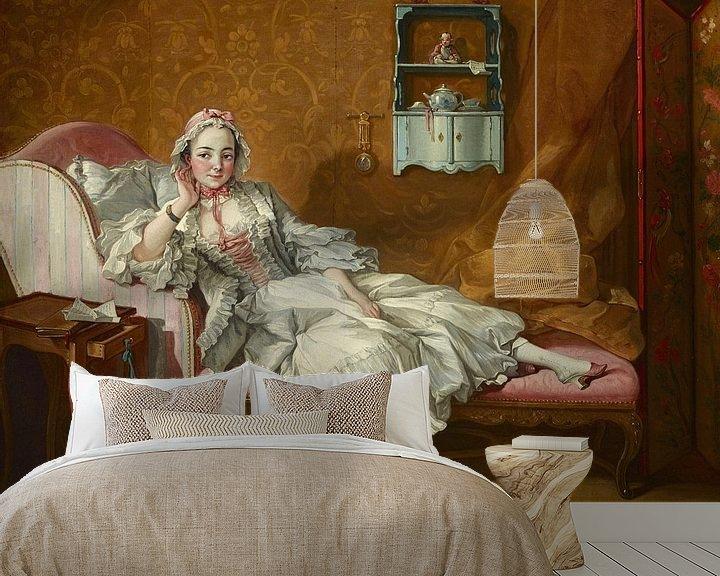 Beispiel fototapete: Eine Dame auf ihrem Tagesbett, François Boucher