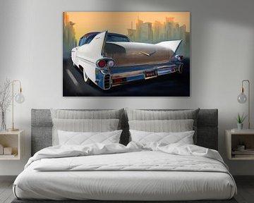 Cadillac - Croisière urbaine en voiture classique.
