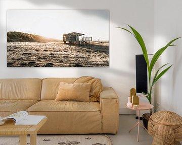 Strandhuis bij Hoek van Holland 1 van Marcel Kool