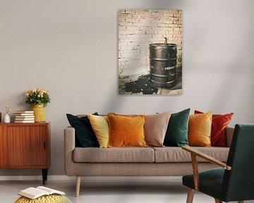 Ein schwarzes Ölfass von Martijn Tilroe
