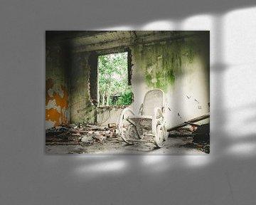 verlaten schommelstoel