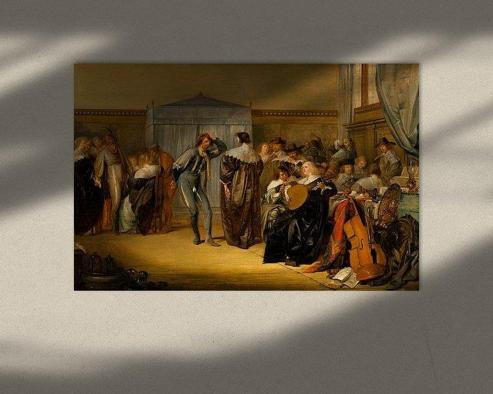 Beispiel: Fröhliche Gesellschaft mit maskierten Tänzern, Pieter Codde