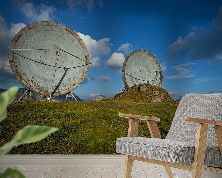 Beispiel fototapete: verlassene Antennenschüsseln von urbex lady