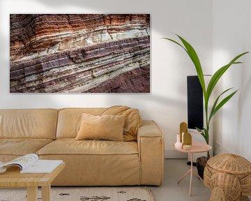 Rotswand erosie structuur Helgoland van Martijn van Dellen